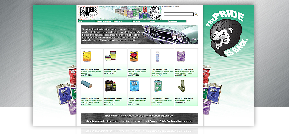 Painters Pride Website Design